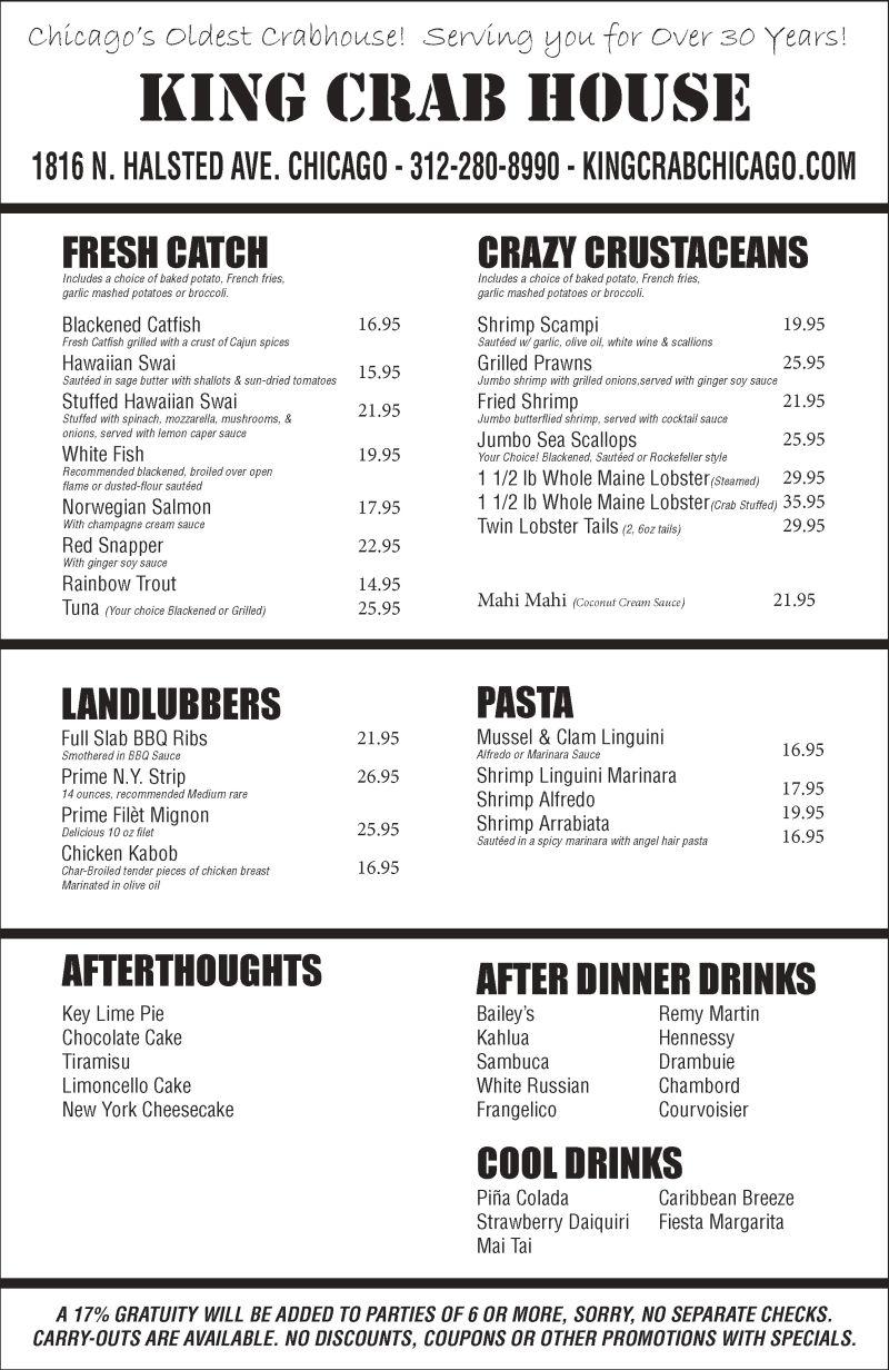 Fish restaurants chicago crab chicago crab restaurants for Seashell fish chicken chicago il