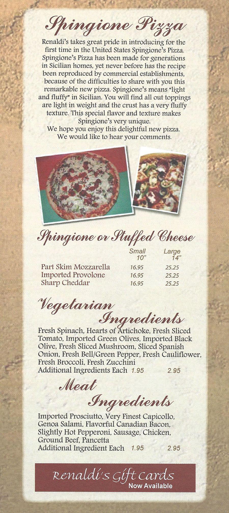 Free Renaldi's pizza chicago coupon code