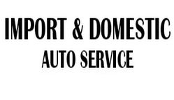 Import & Domestic Auto Service Logo